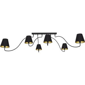 Lampa sufitowa WIVEL 6 black